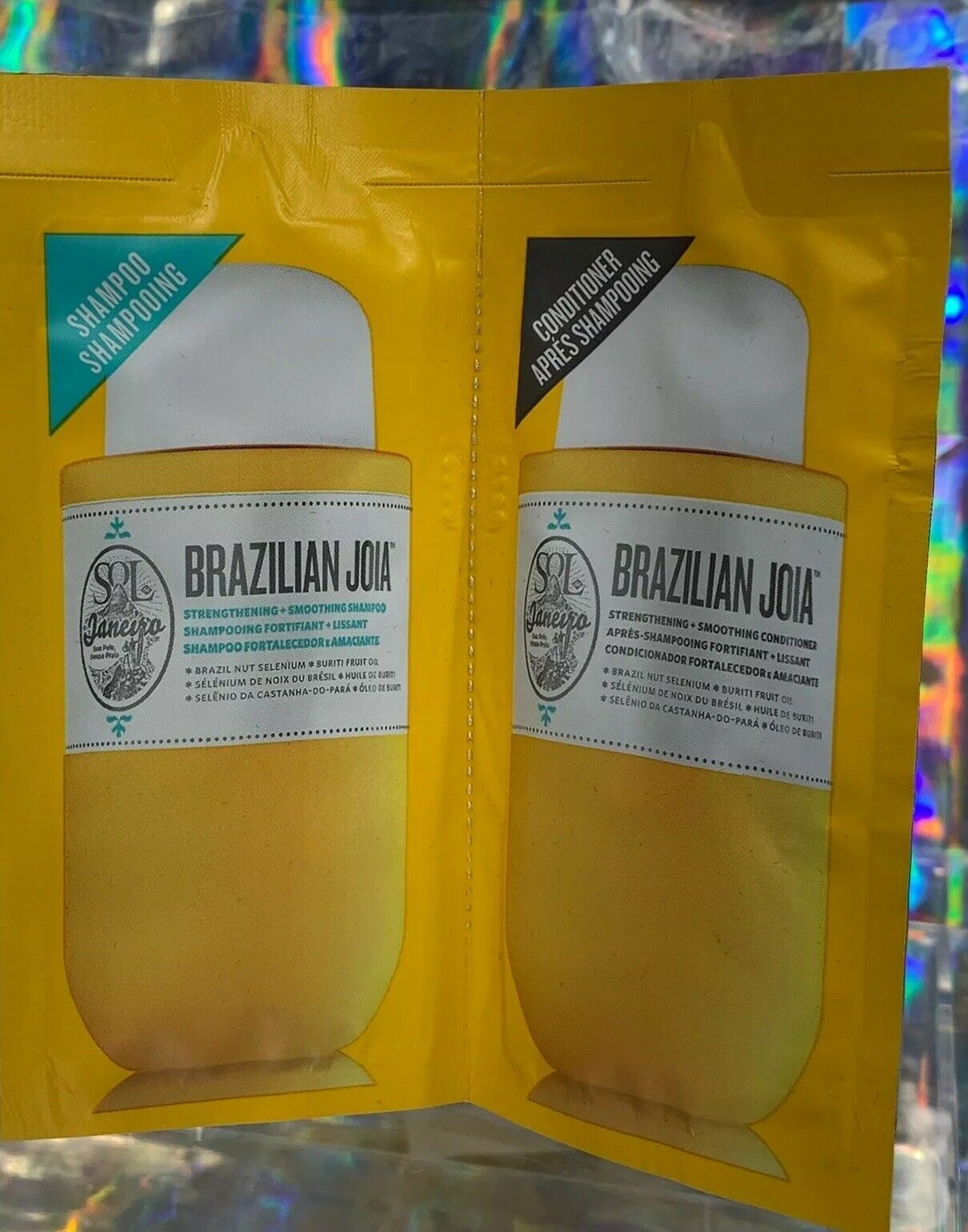 1 Sample Duo Of Bum Bum Brazilian Joia Shampoo & Joia Conditioner