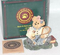 Boyd Bearstone Resin Bears Chrissie Game Set Match Tennis Figurine #227717 6E image 3