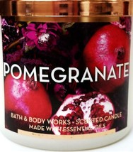 Bath & Body Works Pomegranate Large 3 Wick Candle Cooper Lid 14.5 oz Limited Ed image 2