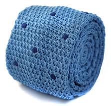 Strick skinny hell blau mit marineblau gepunktet Krawatte Herren von - $24.38