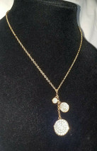 Vince Camuto Gold Tone Crystals Circles Necklace NEW $42 - $27.72