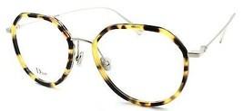 Christian Dior Stellaire O9 8JD Eyeglasses Frames 52-18-145 Pd Havana Grey READ - $117.51
