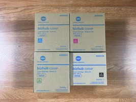 Set Of Genuine Konica TNP50 CMYK Toner For Bizhub  C3100P - Same Day Shi... - $217.80