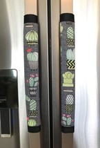 Refrigerator Door Handle Covers Set of Two Cactus Theme 13L X 4.5W - $12.99