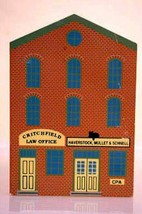 The Cats Meow Village 1991 CPA Law Office Series IX Wooden Shelf Sitter - $2.76