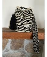 Authentic 100% Wayuu Mochila Colombian Bag medium Size natural colors bl... - $52.00