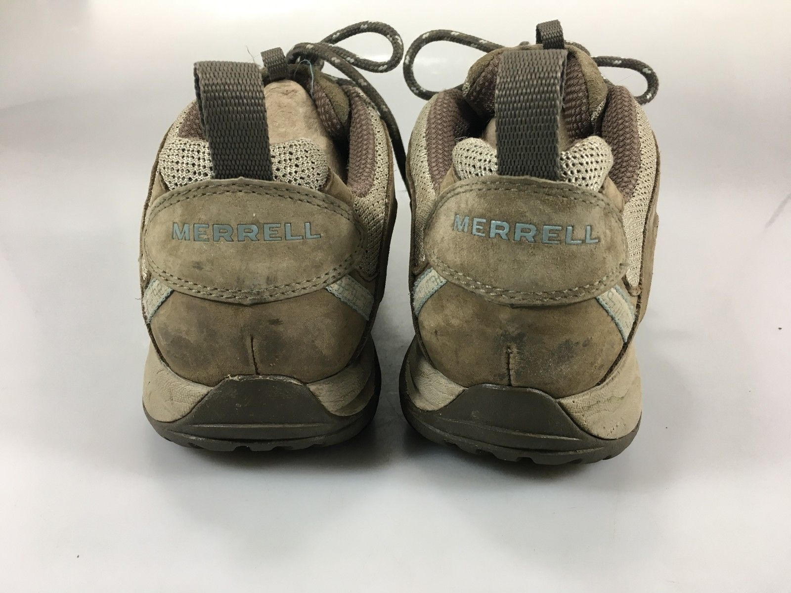 c3297edffa1f7 Merrell Womens 9 Hiking Trail Shoes Siren Sport Olive Beige Vibram Soles