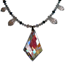 Aurora Borealis Kite and Graduated Speardrop Necklace image 1