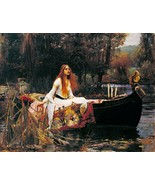 The Lady Of Shalott Painting by John William Waterhouse Art Reproduction - $32.99+