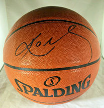 KOBE BRYANT / NBA HALL OF FAME / AUTOGRAPHED NBA LOGO SPALDING BASKETBALL / COA image 1