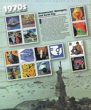 USPS Celebrate The Century 1970s Sheet of Fifteen 33 Cent Stamps Scott 3189 - $8.99