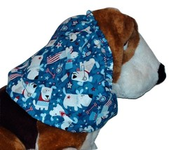 Patriotic Pups Sparkle Cotton Dog Snood Basset Hound Springer Spaniel Si... - $11.50