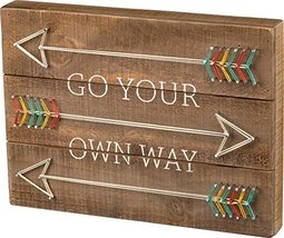 Primitives by Kathy Go Your Own Way String Art Sign with Arrows, Wood, 1... - $22.78