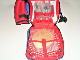 Picnic Basket Backpack With Cooler Compartment & Accessories 20 Pieces - $528,38 MXN