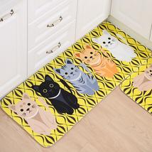 Welcome Floor Mats Animal Cat Printed Bathroom Kitchen Carpets Floor Mat - $11.55