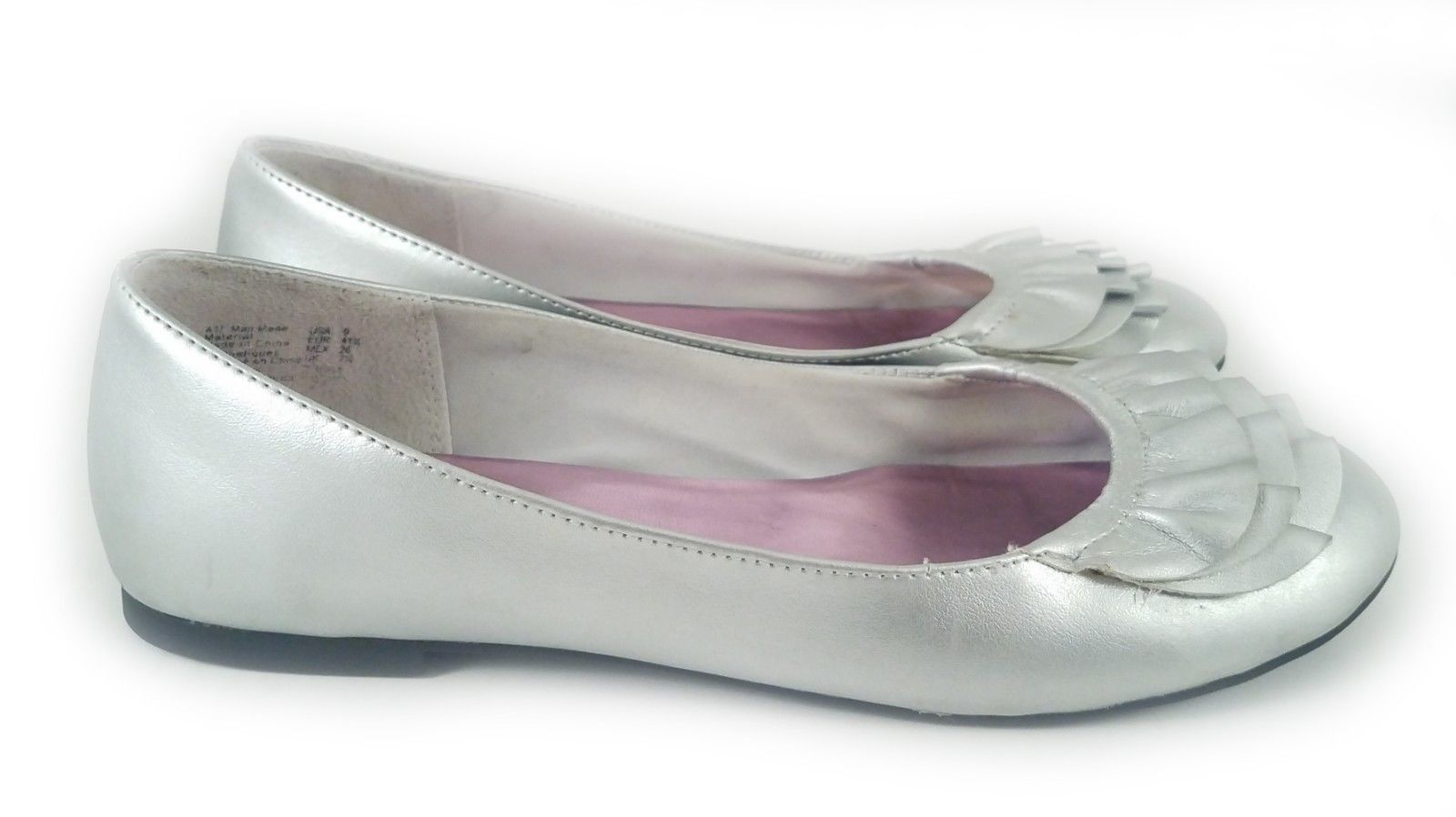 VEGAN American Eagle Silver Slip On Ballet Flats for Women Size 9 US - $15.76