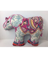Pier 1 Imports Elephant Floral Embroidered Pillow Decor Plush Stuffed An... - $26.13