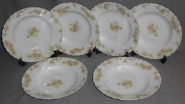 Haviland Porcelain THE COUNTESS PATTERN Set (6) Rimmed Soups LIMOGES FRANCE - $148.49