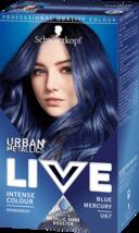 Schwarzkopf Live Hair Dye Colour Blue Mercury Permanent Metallic Shine Booster - $14.77
