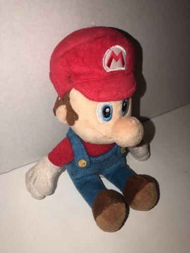 "2010 Nintendo Super Mario Bros. 8.5"" Plush Small Classic Gamers Clean Shaved"