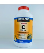 Sealed Kirkland Signature Vitamin C 500 mg 500 Chewable Tablets Tangy Or... - $25.69