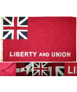 3x5 Embroidered Sewn Liberty and Union Taunton 100% Cotton Flag Banner 2 Clips - $54.44