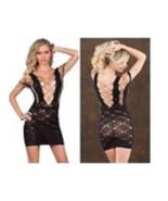 Women All Fishnet Babydoll Short Dress Sexy Lingerie Stretch Details M P... - $8.30