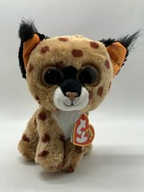 "TY Beanie Boos 6"" BUCKWHEAT Lynx Plush Boo Sparkly Glitter Eyes New With... - $17.81"