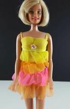 Barbie 1841 Night Clouds 1968 Yellow Pink Layered Nighty, Robe Original ... - $24.74