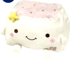 Tofu Cushion Hannari  Star Series Pink Stuffed Toy Cushion Size M Japan ... - $56.73 CAD