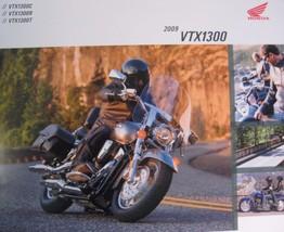 2009 Honda VTX1300 Cruiser Motorcycle Brochure Classic Retro Touring Xlnt - $10.78