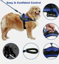 PAWFULL No Pull Reflective Dog Harness Kit with DIY tag. Medium. Black. image 6