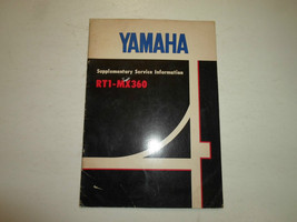 1971 Yamaha RT1 MX360 Supplementary Service Information Manual FACTORY OEM x - $89.09