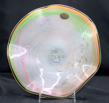 "Murano * 10 1/4"" BOWL * Wavy, Ruffled, Pastel, Sherbet Color, Italy, EXC! - $39.99"