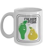 I've Been Working On My Core Funny Pun Abs Pear Coffee & Tea Gift Mug Cu... - $13.71