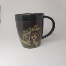 2012 Starbucks Siren Mermaid Anniversary Mug Brown Gold - New - $17.81