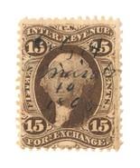 1863 R39c 15c U.S.A Revenue, First issue, Foreign Exchange, Washington, ... - $13.99