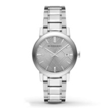 Burberry Mens Watch BU9035 The City Silver Dial And Bracelet Stainless NEW - $257.00