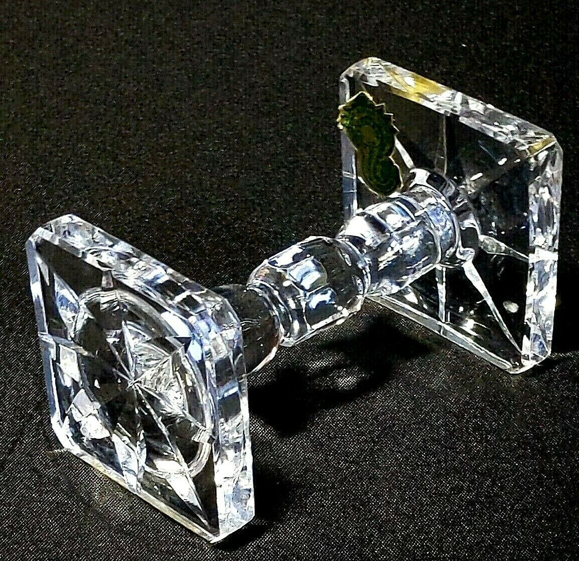 "Primary image for 1 (One) WATERFORD KNIFE REST Cut Lead Crystal 3 5/8"" - Signed with Gold Tag"