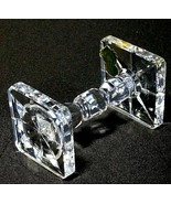 """1 (One) WATERFORD KNIFE REST Cut Lead Crystal 3 5/8"""" - Signed with Gold Tag - $36.09"""