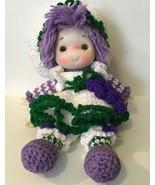 1980s Lollipop Lane Grape Jelly Crocheted ICE CREAM DOLL~ 15 inch - $14.01