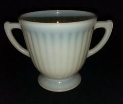 MacBeth Evans Cremax Petalware Depression Glass Footed Open Sugar Bowl 2... - $16.99
