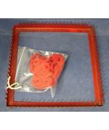 Vintage Red Metal Square Weaving Loom Transogram In Great Shape  - $14.85