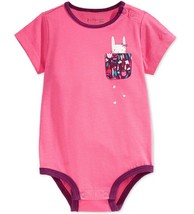 First Impressions Baby Girls' Kitty Pocket Bodysuit, Pink, Size 3-6 Months - $8.90