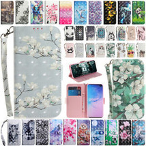 For Samsung Galaxy S10 Plus S10e Patterned Leather Strap Wallet Flip Cas... - $62.16