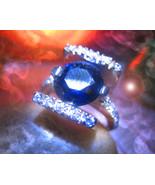 Haunted ring SECRET HIDDEN DJINN VESSEL MALE Genie 925 BLUE GEMSTONE Cas... - $200.00
