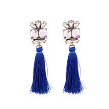 Geometric Vintage Long Earrings Indian Jewelry for Women Classic Tassel ... - $10.42