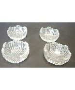 Four Antique ABP Cut Glass Individual Salt Cellars - $14.24