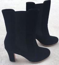 Talbots Suede High Heel Boots Black 7.5 M Block... - $37.20