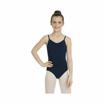 Capezio Dance Girls' Princess Camisole Leotard Navy Medium - $12.61
